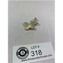 Heavy Sterling ( 925) Butterfly Pendant