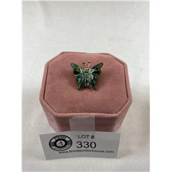 Very Nice Abalone Shell Vintage Butterfly Pin