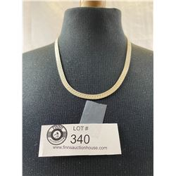 Nice Italian Sterling Silver Herringbone Necklace