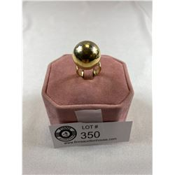Signed Sarah Coventry Gold Plated Ball Ring