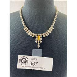 Fabulous 1940's Rhinestone Necklace