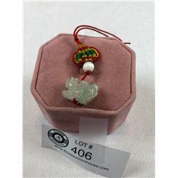 Chinese Foo Dog Jade Pendant