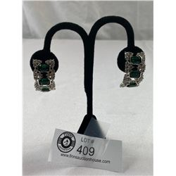Incredible Rhinestone Vintage Earrings Signed F.A.C.