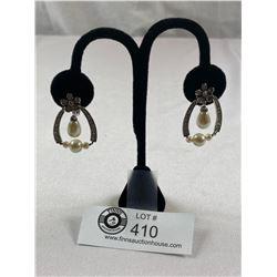 Elegant Signed Monat Rhinestone Earrings