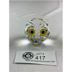 Heavy Crystal Owl ( Paperweight?)
