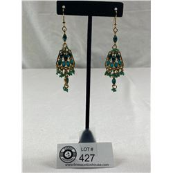 Stunning German Rhinestone Dangly Earrings