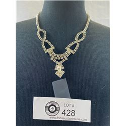 Exquisite 1950's Rhinestone Necklace in Great Condition