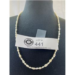Pretty Pearl Necklace with 14/20 Gold Coloured Clasp