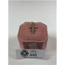 Very Nice Early Silver Pierced Cross