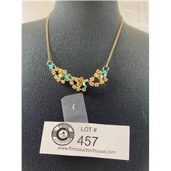 Very Fine 2 Colour Rhinestones 40's-50's Necklace