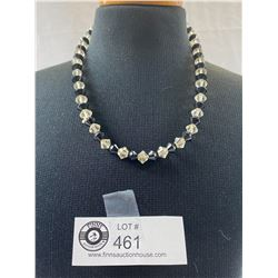 1930's Black and Clear Crystal Necklace