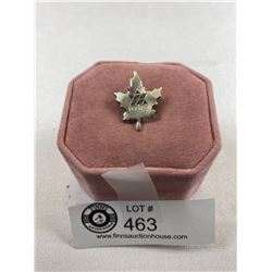 1967 Centennial Pin Maple Leaf In Sterling Silver