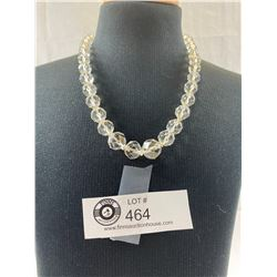 Superb 1950's Crystal Necklace with Sterling Clasp