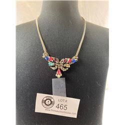 A Nice Multi-Colour Rhinestone & Faux Seed Pearl Necklace