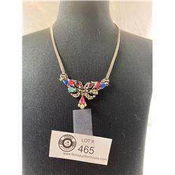 A Nice Multi-Colour Rhinestone & Faux Seed Pearl Necklace