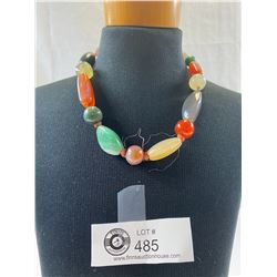 Very Nice Asian Made Agate Necklace