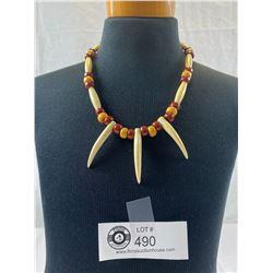Vintage Bone Claw Necklace
