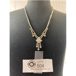 Art Deco Style Rhinestone Necklace