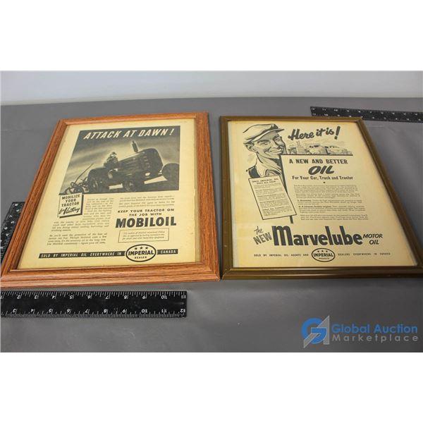 (2) Imperial Framed Advertisments