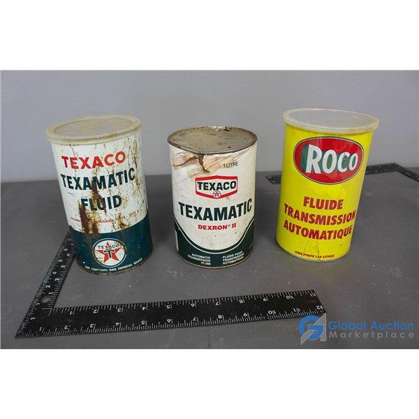 (2) Texaco & Roco Cans