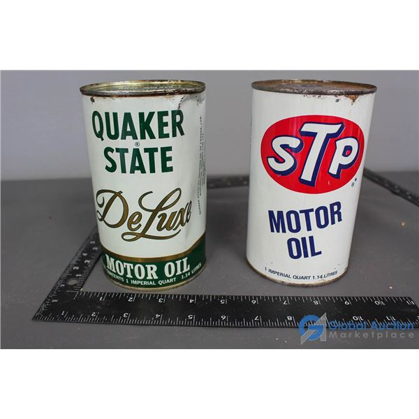 Quaker State & STP Motor Oil Cans