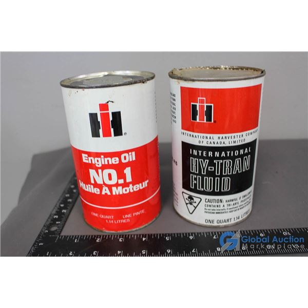 (2) International Harvester Cans