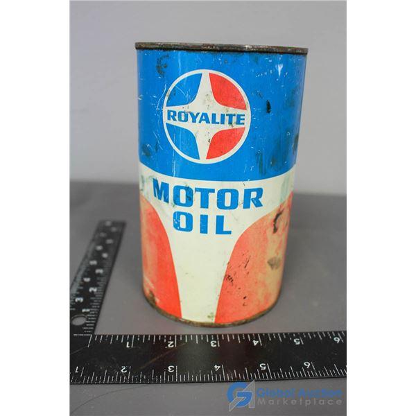 Royalite Motor Oil Can