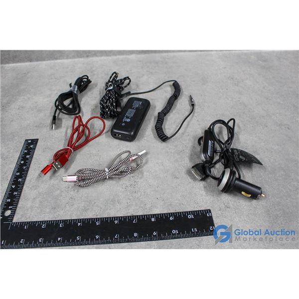 Charger Bank; FM Transmitter; Charging Cords