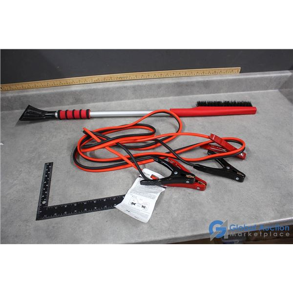 Booster Cables & Snow Brush/Scraper