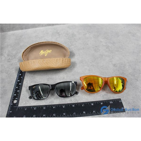 Maui Jim Sunglasses & Extra Pair of Orange Frame Sunglasses