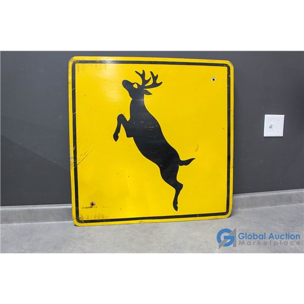 "**29"" Deer Crossing Sign"