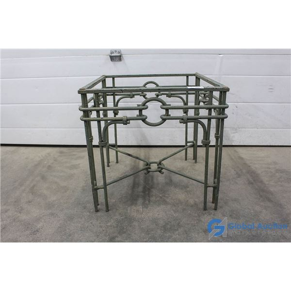 "**Wrought Iron Square Table Base - 21.5""x21.5"""