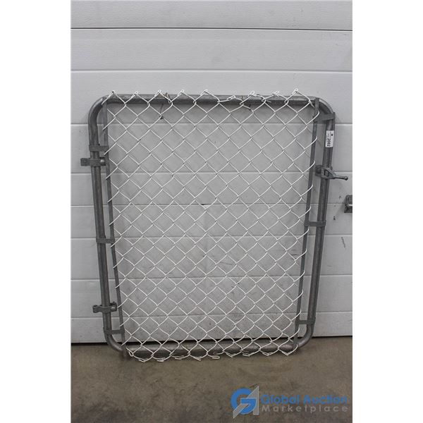 "**Chain Link Gate w/Mounts - 40"" High x 34"" Wide"