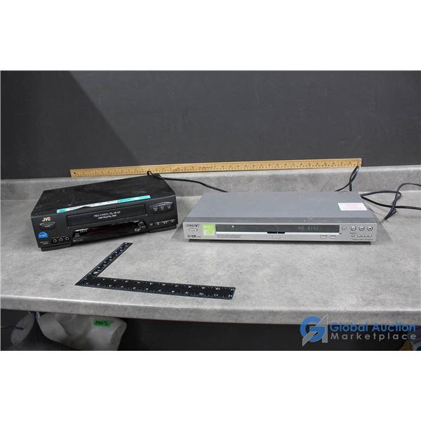JVC VCR Player & Sony DVD Player
