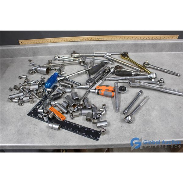 Various Wrenches & Sockets