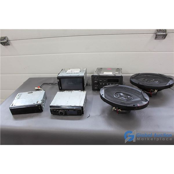 "Assorted Car Stereos & Pair of JBL 6x9"" Speakers"