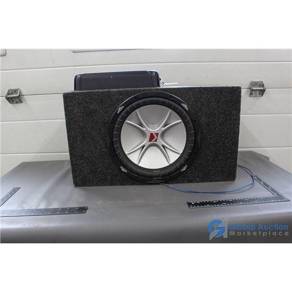 """Pioneer Amp w/ 12"""" Kicker Sub in Box"""