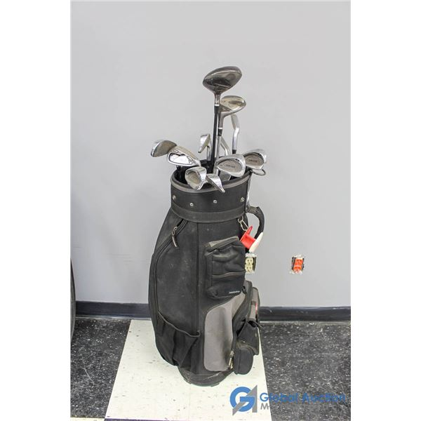 Men's 11 Piece Left Handed Golf Clubs & Wilson Bag
