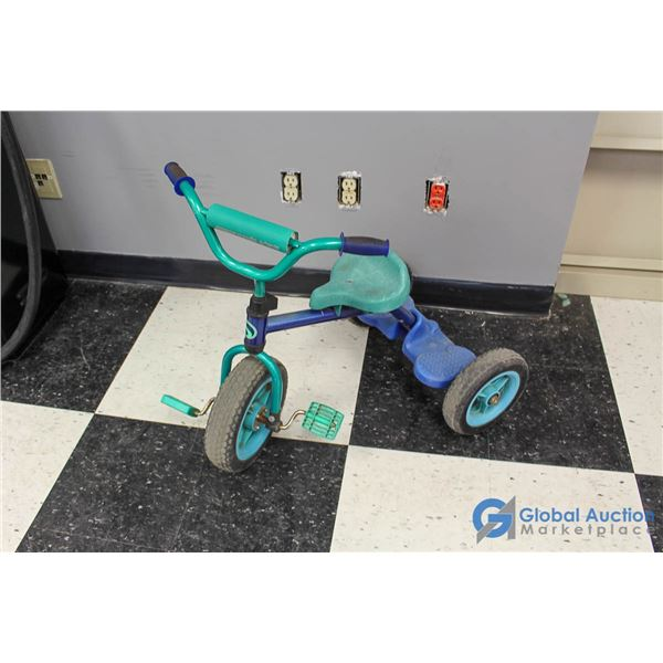 Child's Supercycle Tricycle w/ Rubber Tires