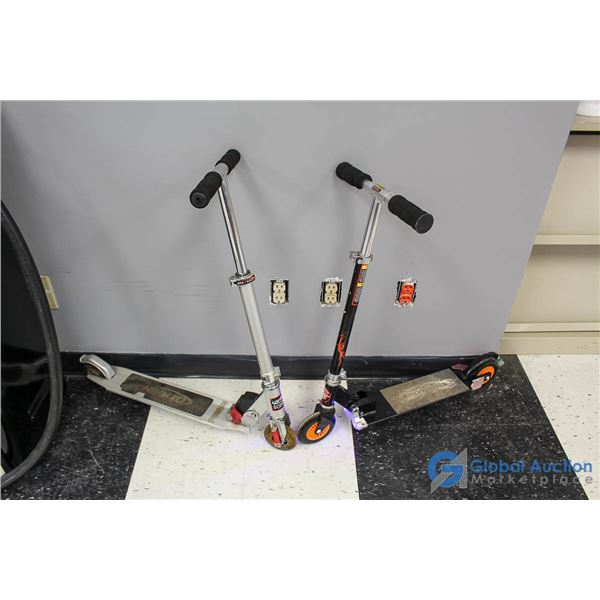 (2) Small Scooters - Mongoose w/Lights & Oxygen w/ Front Springs