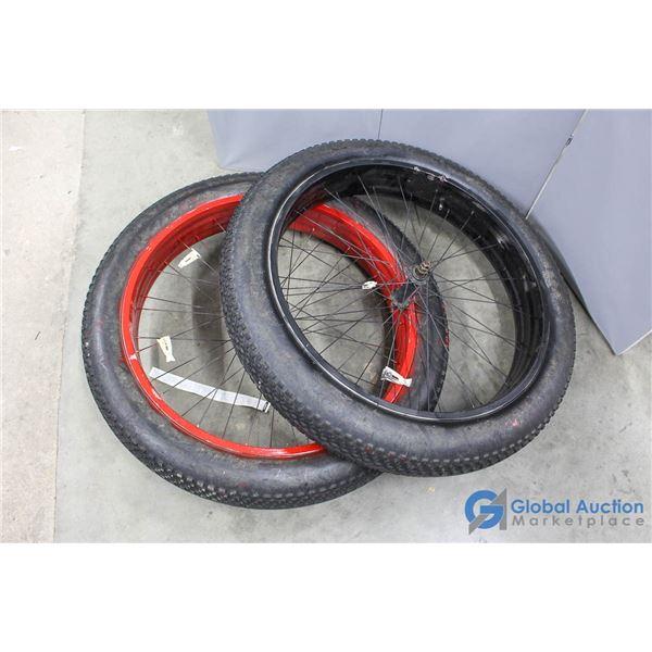 **(2) Tires on Rims - 26 x 4.0
