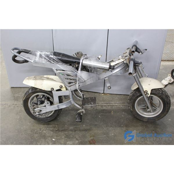 Silver Mini Bike