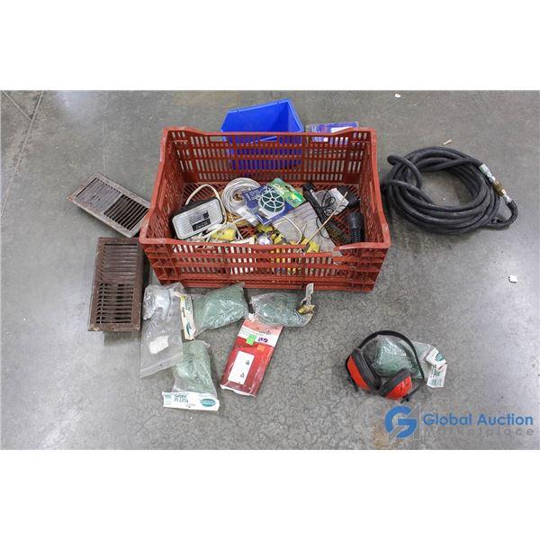 Plastic Crate of Hardware