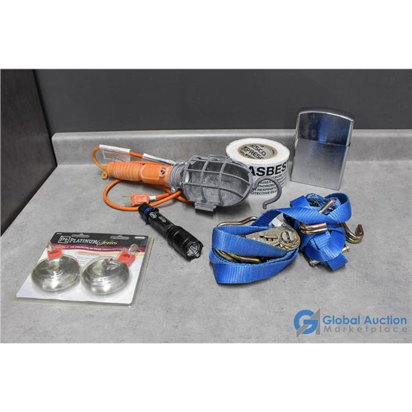 Misc Items - Tie Down Straps, Trouble Light, & Related