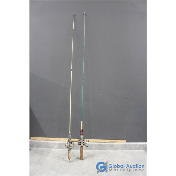 (2) Fishing Rods w/Reels