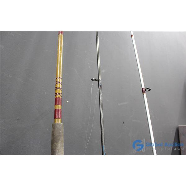 (3) Fishing Rods w/(2) Reels