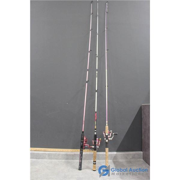 (3) Fishing Rods w/Reels