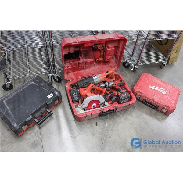 **18V Tool Set in Case & (2) Extra Cases