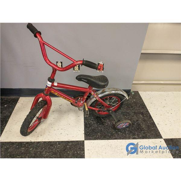 """Child's 12"""" Arashi Bike w/Training Wheels & Rear Fender"""