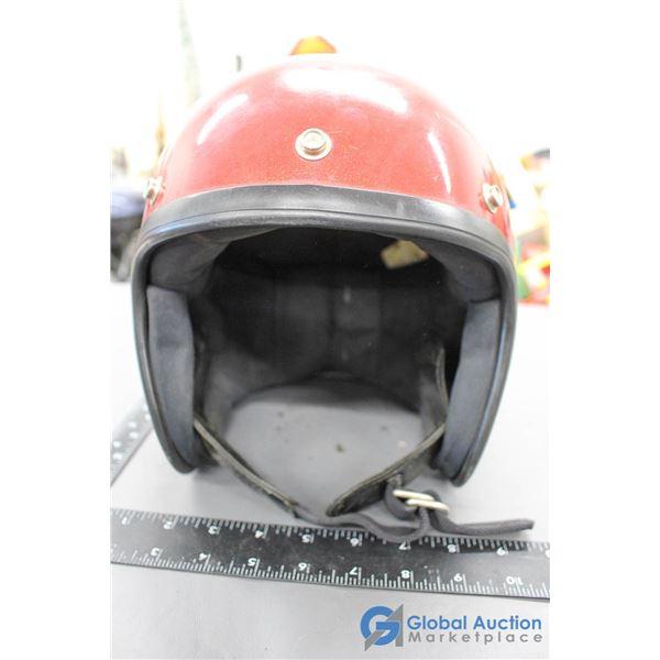 Vintage 1972 Motorcycle Helmet